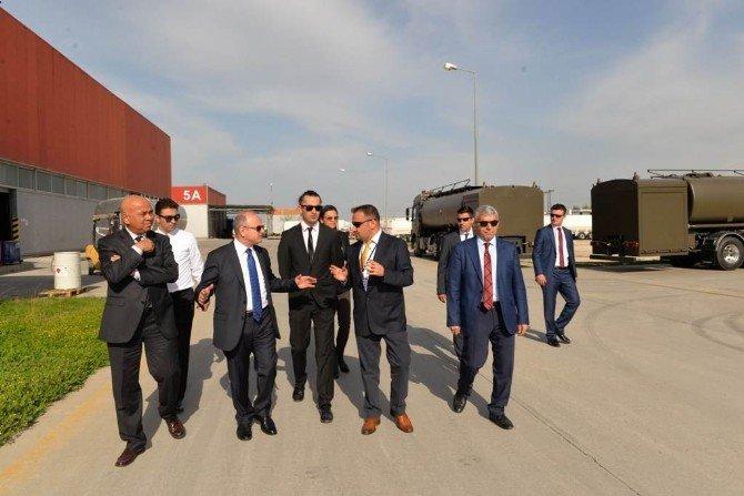 Vali Çakacak'tan Otomotiv Sektöründe Faaliyet Gösteren Tesise Ziyaret