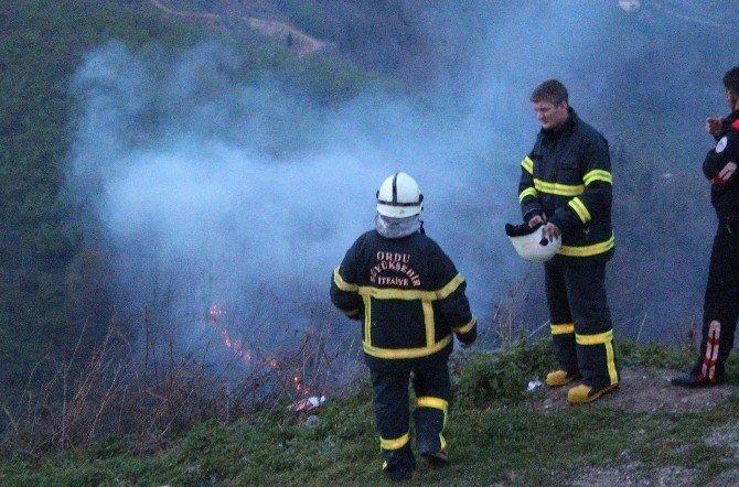 Ordu'da Çıkan Orman Yangını Güçlükle Söndürüldü