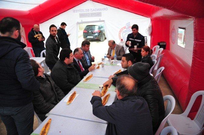 Orhangazi Belediyesi'nden Taziye Çadırı
