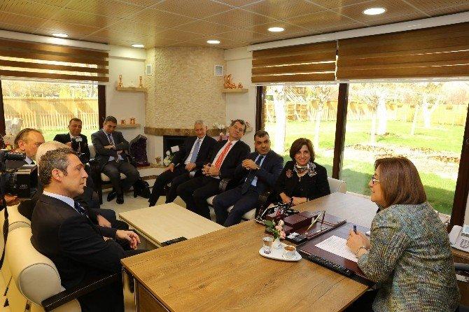 Tüsiad'dan Başkan Fatma Şahin'e Ziyaret
