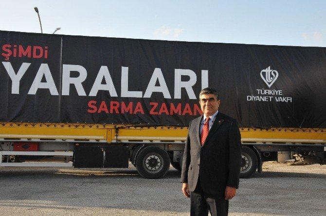 """""""Şimdi Yaraları Sarma Zamanı"""" Kampanyasına Tarsus'tan 9 Tır Yardım"""