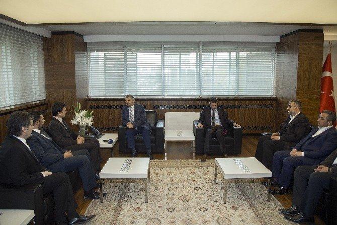 Kaymos Yönetimi Başkan Çelik'i Ziyaret Etti