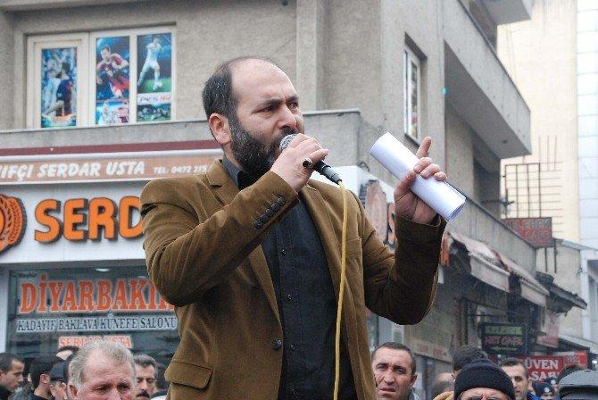 Ağrı'dan Özgür Gündem Gazetesi'ne Tepki