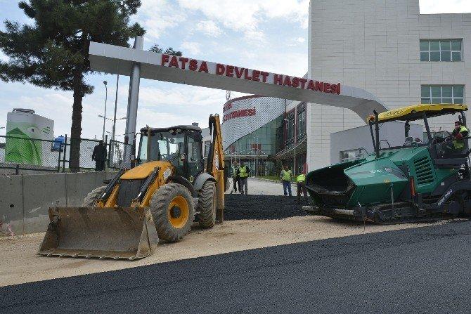 Yeni Fatsa Devlet Hastanesi'nin Yolu Asfaltlandı
