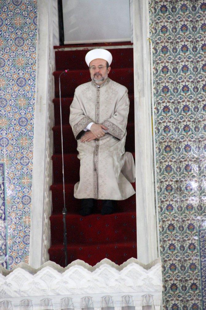 Diyanet İşleri Başkanı Görmez, cuma hutbesini Şanlıurfa'da okudu