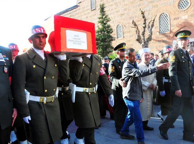 Şehit Piyade Uzman Çavuş Vedat Öz, son yolculuğuna uğurlandı