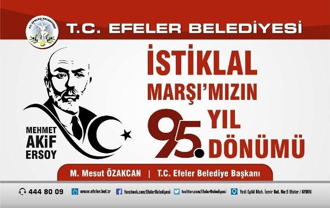 Başkan Özakcan'ın İstiklal Marşı'nın Kabulünün 95. Yıl Dönümü Mesajı
