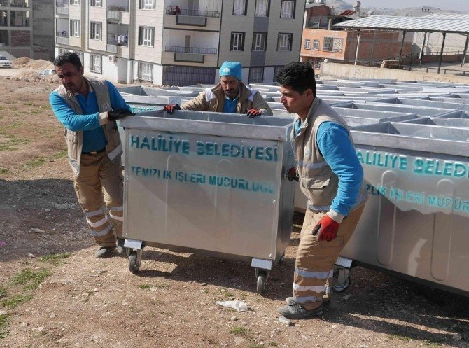 Haliliye'deki Çöp Konteynerleri Yenilendi