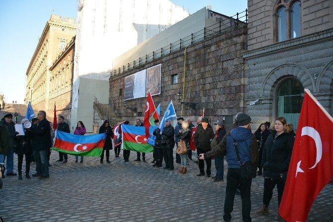 Sözde Ermeni Tasarısı İsveç'te Protesto Edildi