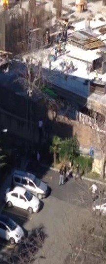 Okmeydanı'nda Jandarma İle Mahkum Arasında Yaşanan Kovalamaca Cep Telefonu Kamerasında