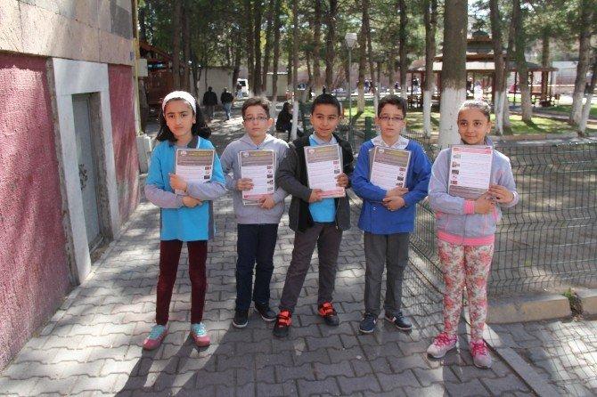 İncesu Belediyesi Temiz Bir İncesu İçin İlköğretim Öğrencileri İle El Ele Vererek Halkı Bilinçlendiriyor