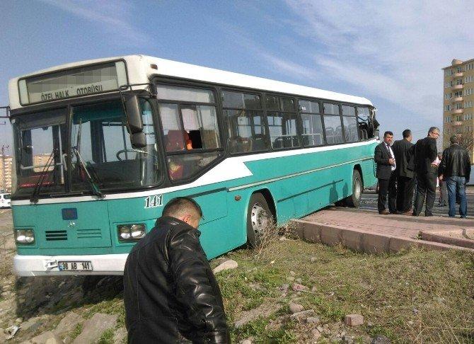 Yolcu Otobüsü İle Halk Otobüsü Çarpıştı: 1 Ölü, 5 Yaralı