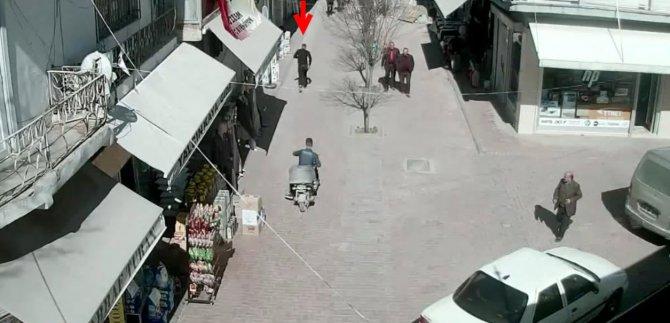 'Oyalama yöntemi' ile dolandırıcılık şüphelisini güvenlik kamerası yakalattı