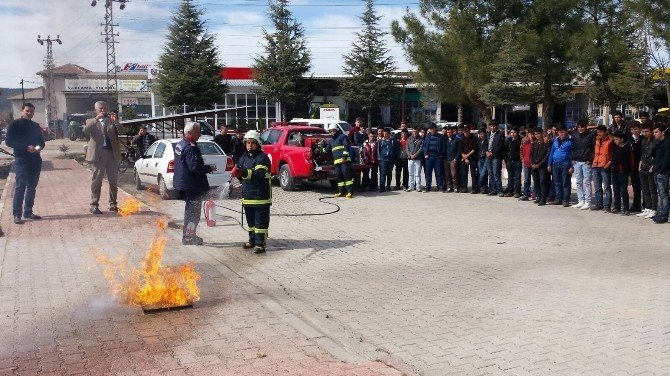 Mesleki Eğitim Merkezinde Deprem Ve Yangın Tatbikatı