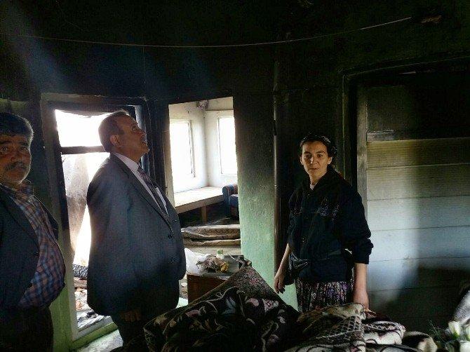 Söke'nin Yeşilköy Mahallesindeki Yangında Ev Kül Oldu