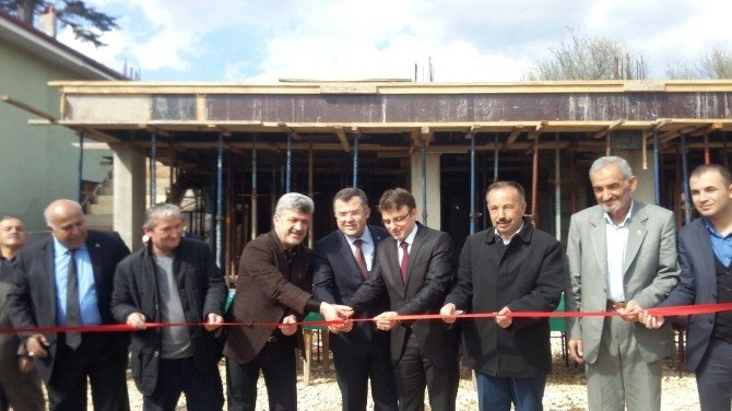 Yığılca'da Köy Konağı Temeli Atıldı