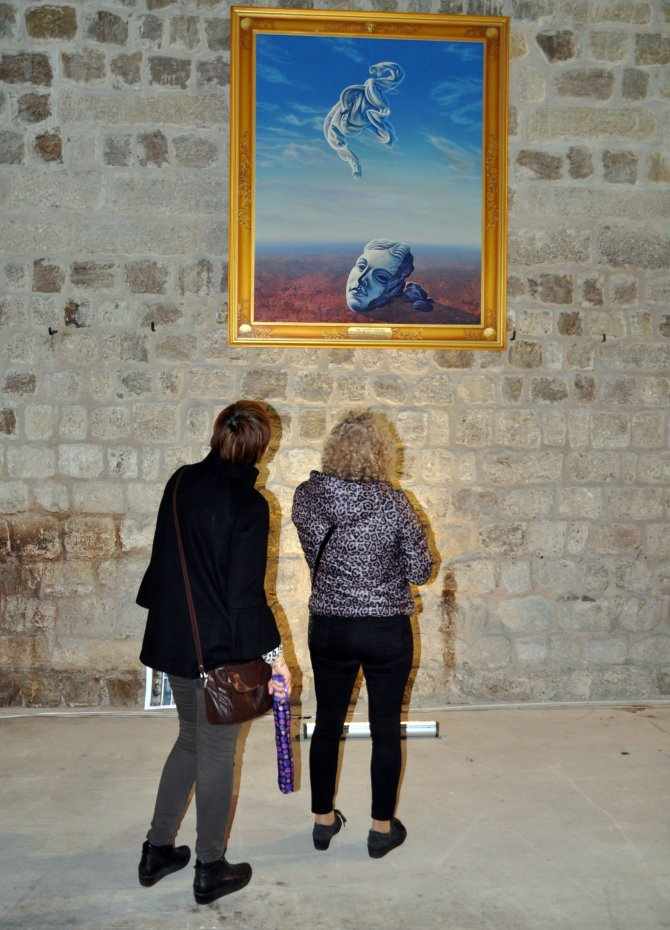 Yunanlı ressam Edirne'de dostluk sergisi açtı