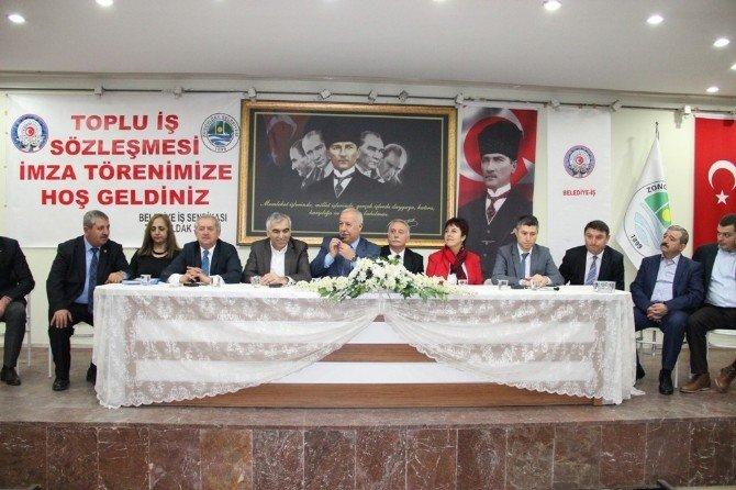 Zonguldak Belediyesi İle Belediye İş Sendikası Arasında Toplu İş Sözleşmesi İmza Töreni Gerçekleştirildi