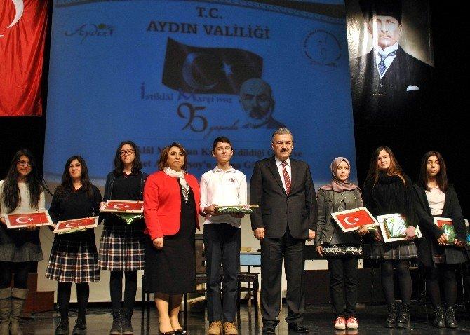Aydın'da İstiklal Marşı'nın Kabulü Kutlandı
