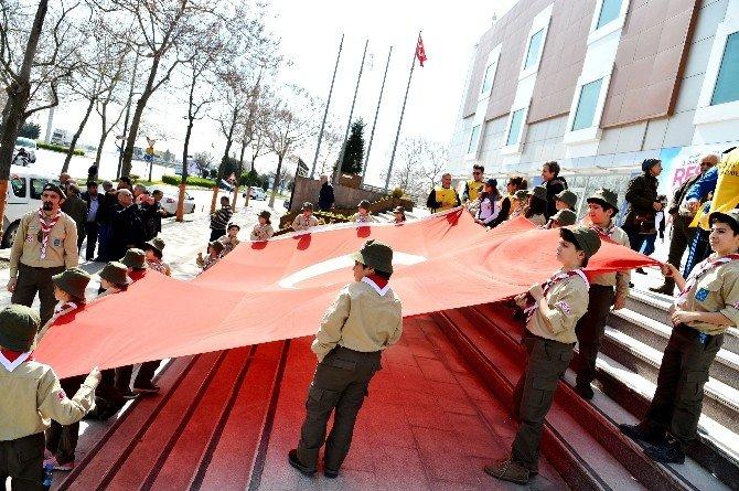 57.alay Yürüyüş Komitesi Beylikdüzü'nden Çanakkale'ye Uğurlandı