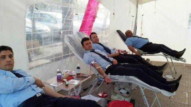 Reyhanlı Belediye Zabıtası'ndan Kan Bağışı