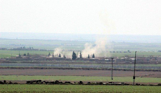 Savaş Uçakları Havadan, Obüs Topları Karadan IŞİD Mevzilerini Vuruyor