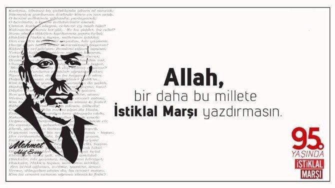 "Başkan Kılınç; ""Allah Bu Millete Bir Daha İstiklal Marşı Yazdırtmasın"""