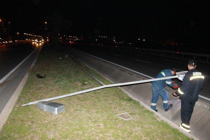 Manavgat'ta Trafik Kazası Ucuz Atlatıldı