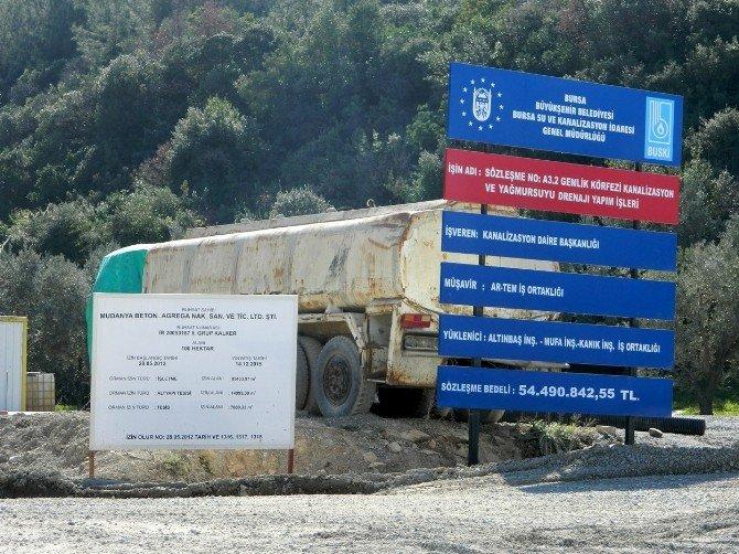 Mudanya Gemlik Çevre Yolunda Çalışmalar Hızlandı