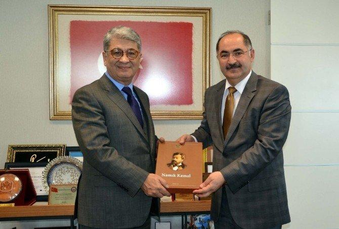 Cumhurbaşkanı Başdanışmanlarından Rektör Şimşek'e Ziyaret