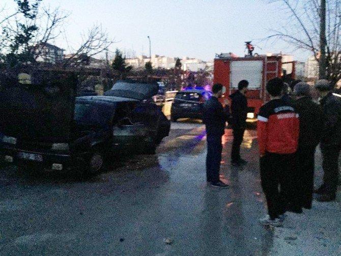 Çerkezköy'de Otomobil Kundaklandı
