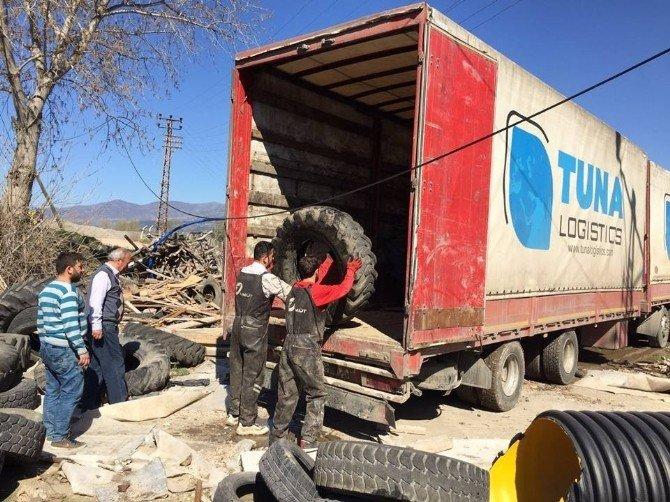 15 Günde 3 Ton Atık Lastik Toplandı