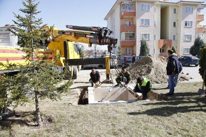 Vadişehir'de Çöp Konteynerleri Yer Altına Alındı