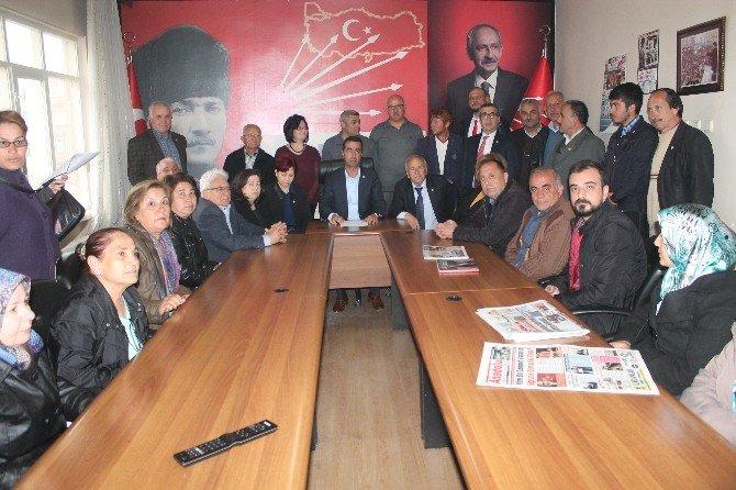 CHP Niğde İl Başkanı Ankara Saldırısı İle İlgili Basın Toplantısı Düzenledi