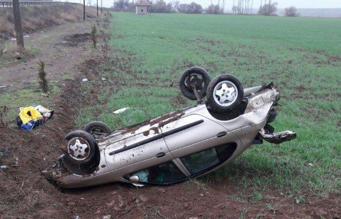 Çorum'da Otomobil Takla Attı: 1 Yaralı