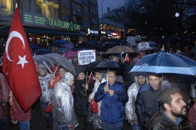 Eskişehir'de Gergin Ankara Protestosu