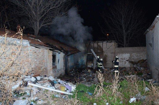 Eskişehir'de Boş Binada Yangın