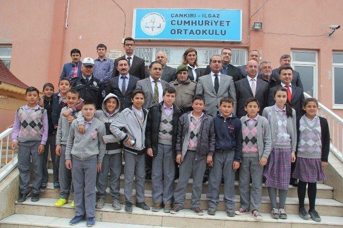 Ilgaz'da Okul Bahçeleri Hayat Buluyor