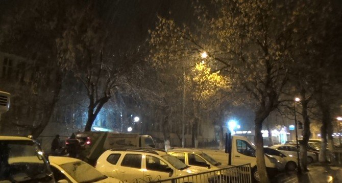 Kars'ta Kar Yağışı