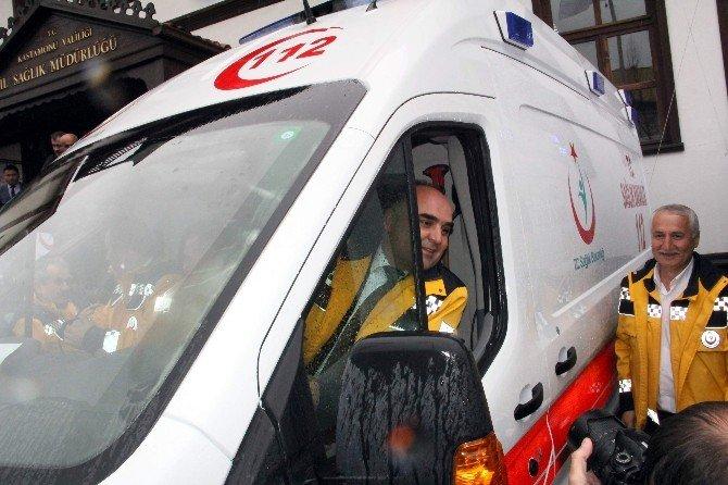 Kastamonu'ya Gönderilen 9 Ambulans, 112'ye Teslim Edildi