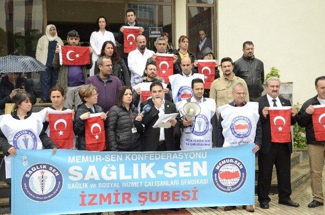 Sağlık-sen İzmir Başkanından Terör Saldırılarına Tepki