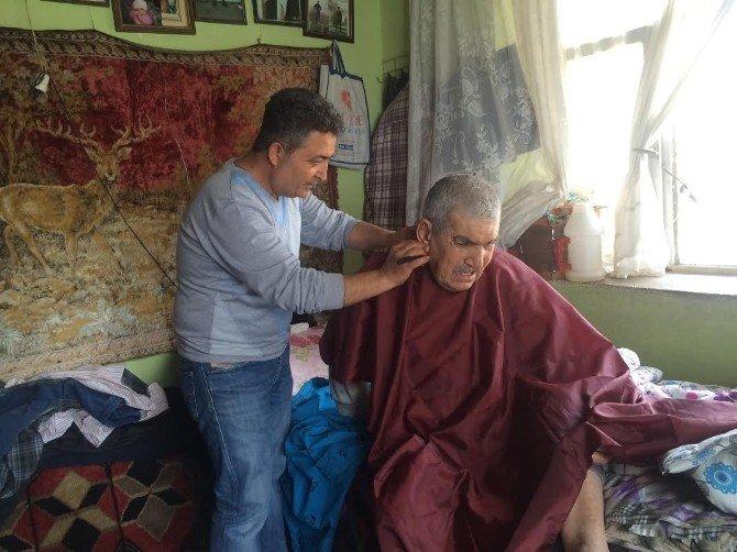 Engelli Ve Yaşlı Vatandaşlara Saç Bakım Hizmeti Yapıldı