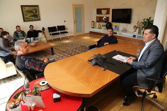 Denizciler Derneğinin Yeni Yönetimden Başkan Kocadon'a Ziyaret