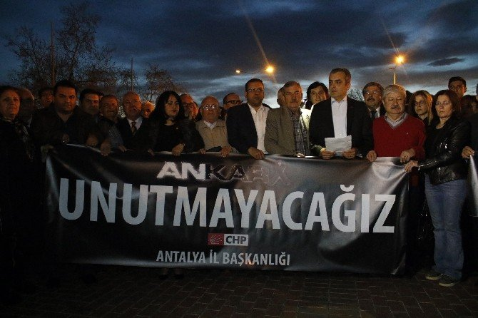 CHP Antalya İl Örgütü, Ankara'daki Terör Saldırısını Protesto Etti