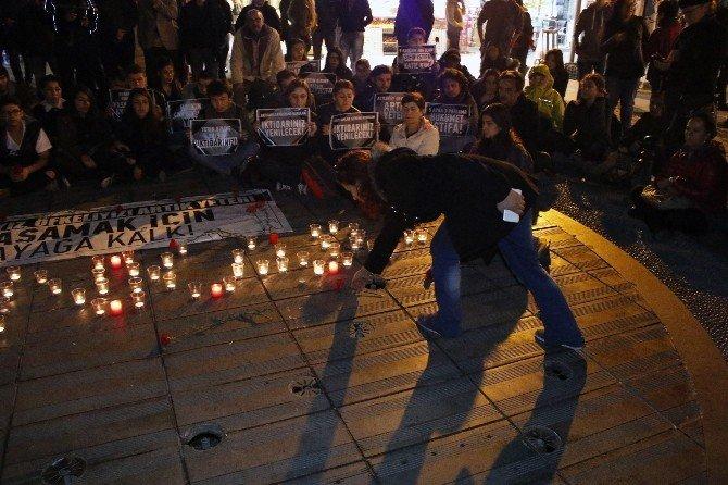 Halk Evleri'nden Karanfilli Ve Mumlu Terör Protestosu