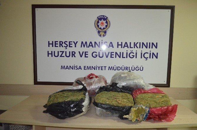 Manisa'da 57 Kilo Esrar Ele Geçirildi
