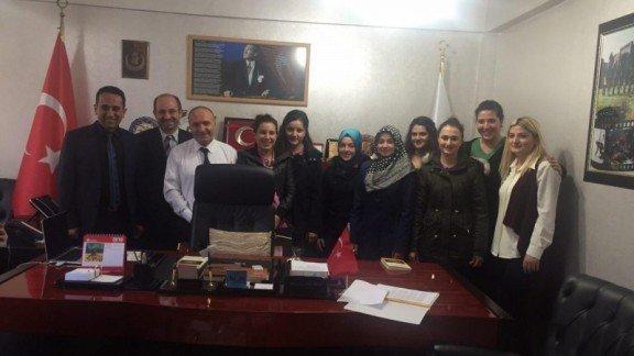 Yurtdışı Gezisinden Dönen Öğrencilerden Korkmaz'a Ziyaret