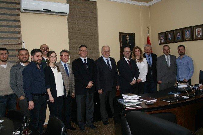 """KTÜ Rektörü Baykal'dan Mühendis Odalarına """"Hayırlı Olsun"""" Ziyaretleri"""