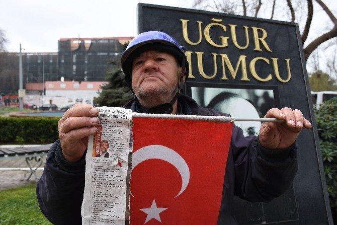 Sinoplu Vatandaştan Teröre TEK Kişilik Protesto