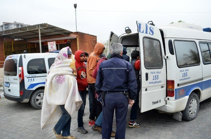 Söke'de 35 Kaçak Göçmen Yakalandı